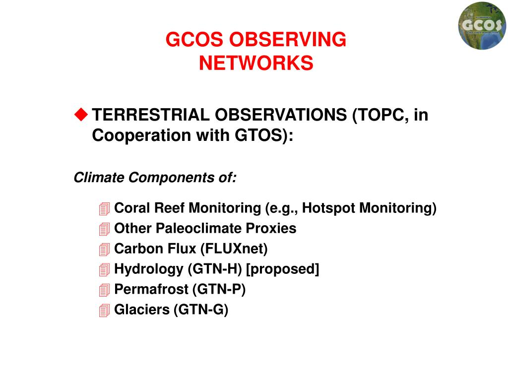 GCOS OBSERVING NETWORKS