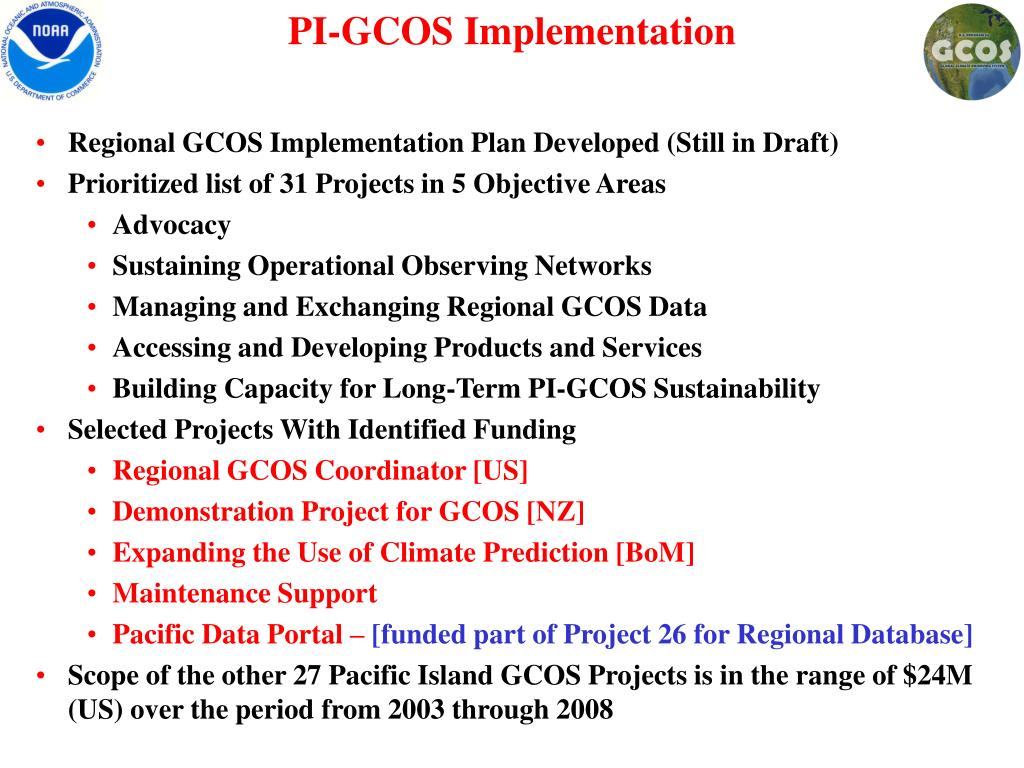 PI-GCOS Implementation