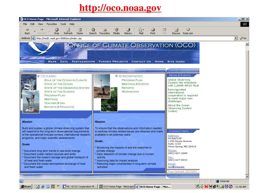 http://oco.noaa.gov