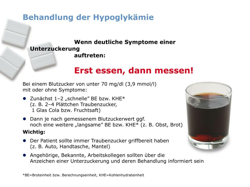 Behandlung der Hypoglykämie
