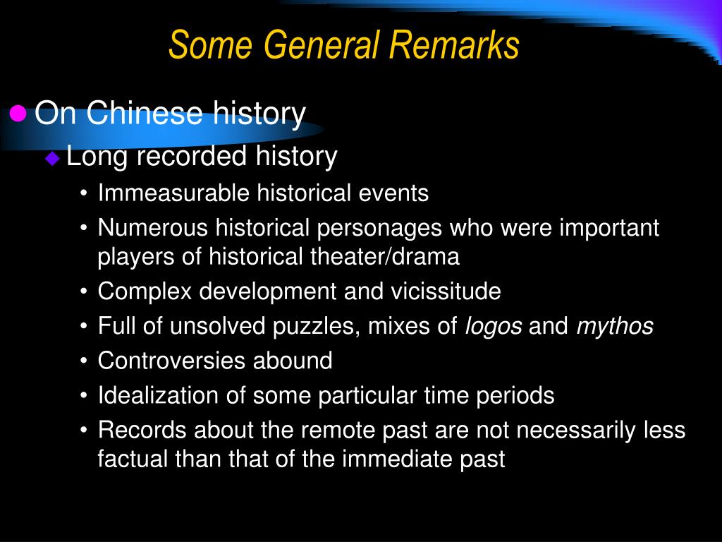 On Chinese history