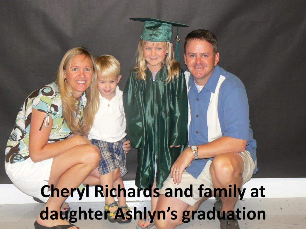 Cheryl Richards and family at daughter