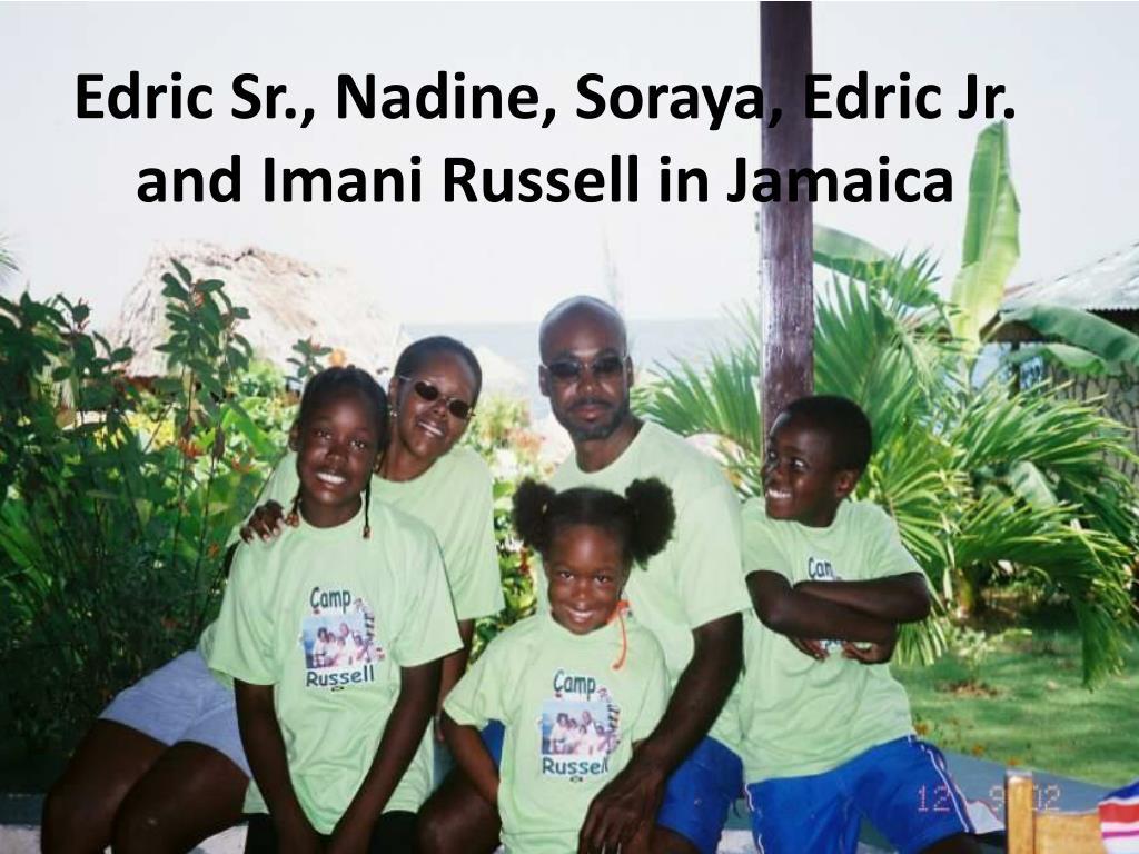 Edric Sr., Nadine, Soraya, Edric Jr. and Imani Russell in Jamaica