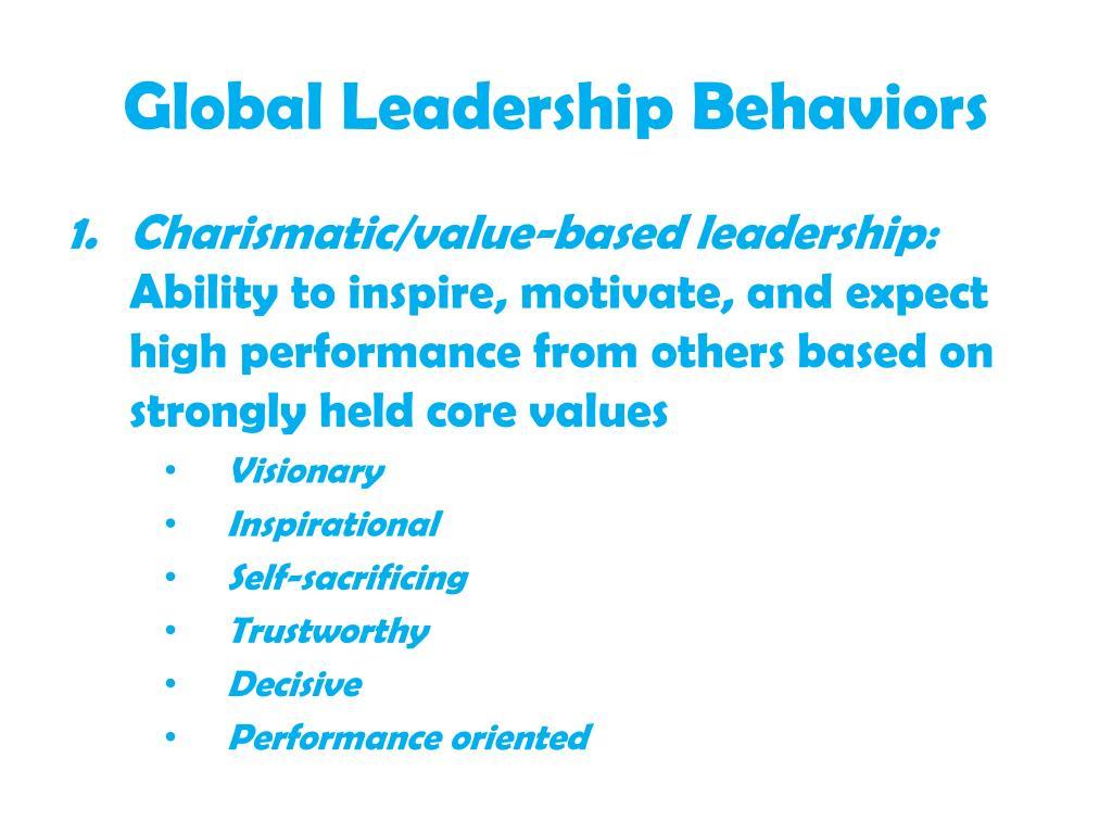 Global Leadership Behaviors