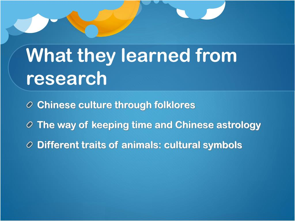 What they learned from research