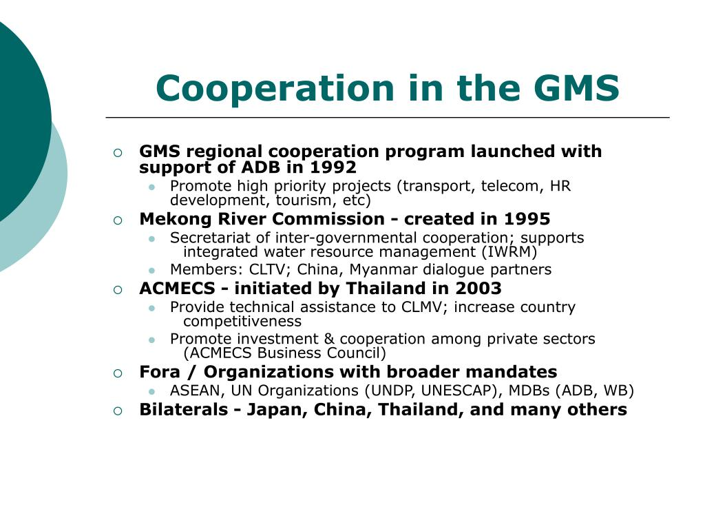 Cooperation in the GMS