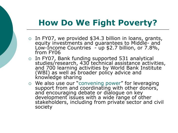 How do we fight poverty