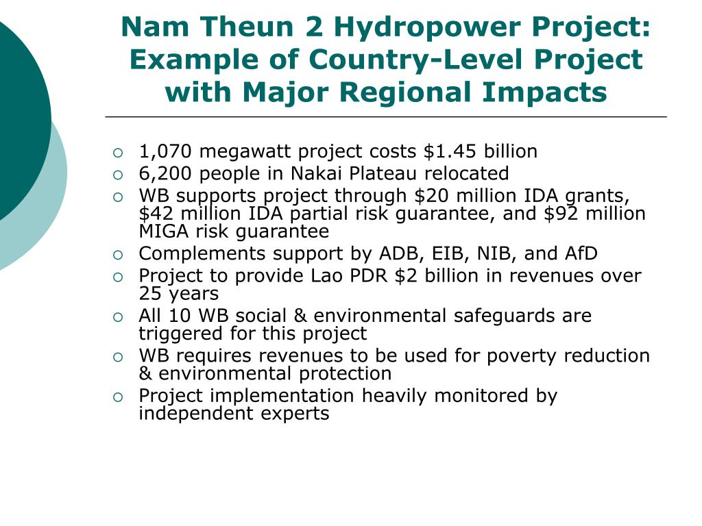 Nam Theun 2 Hydropower Project: Example of Country-Level Project with Major Regional Impacts