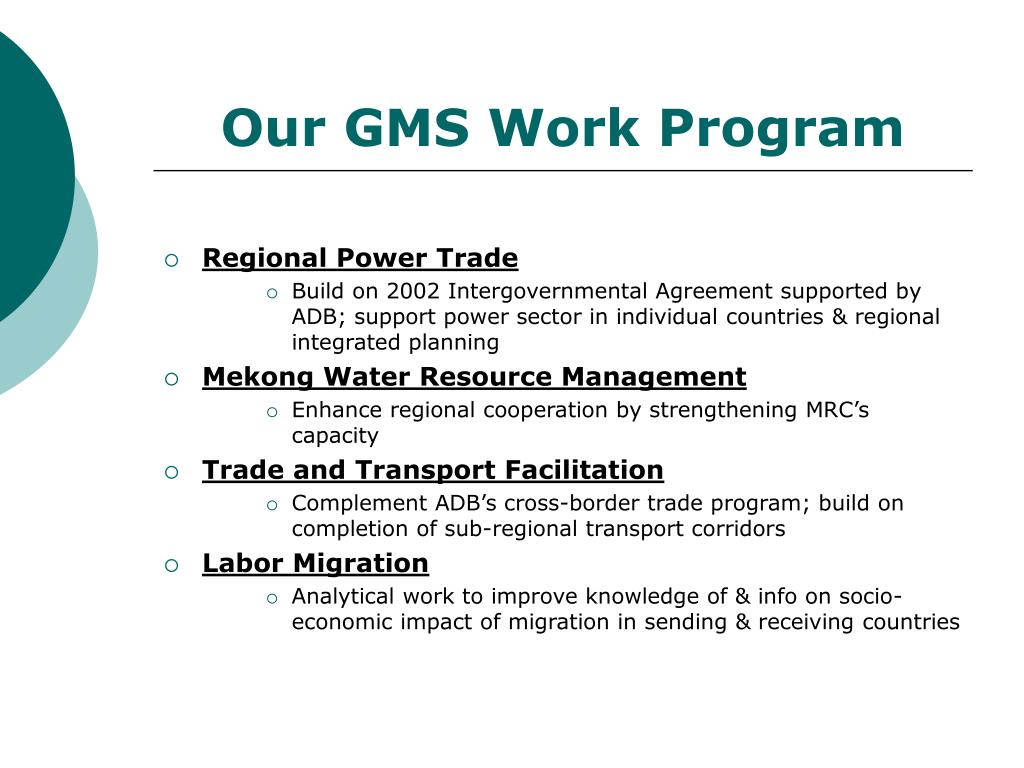 Our GMS Work Program
