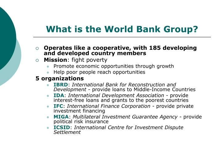 What is the world bank group