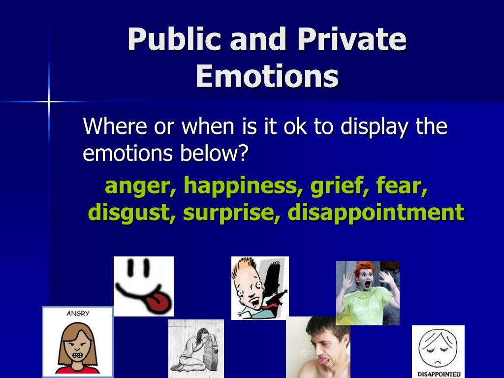 Public and Private Emotions