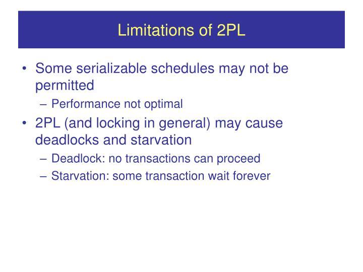 Limitations of 2PL