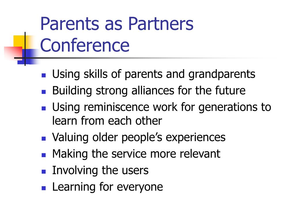 Parents as Partners Conference