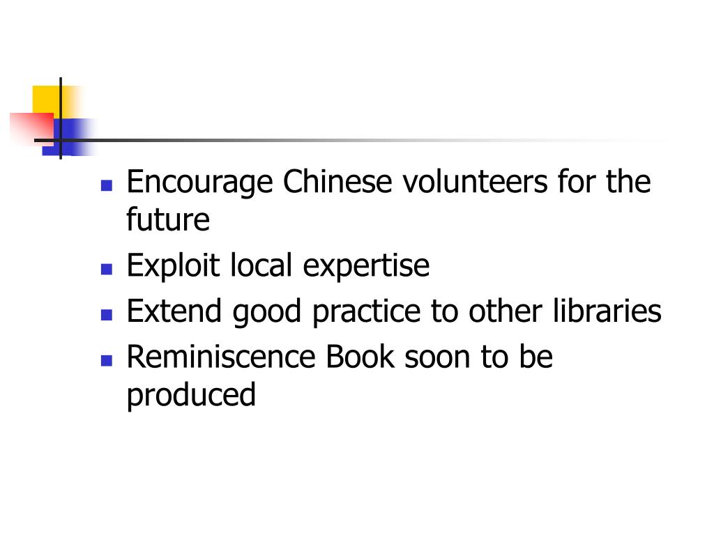 Encourage Chinese volunteers for the future