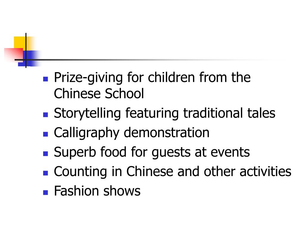 Prize-giving for children from the Chinese School