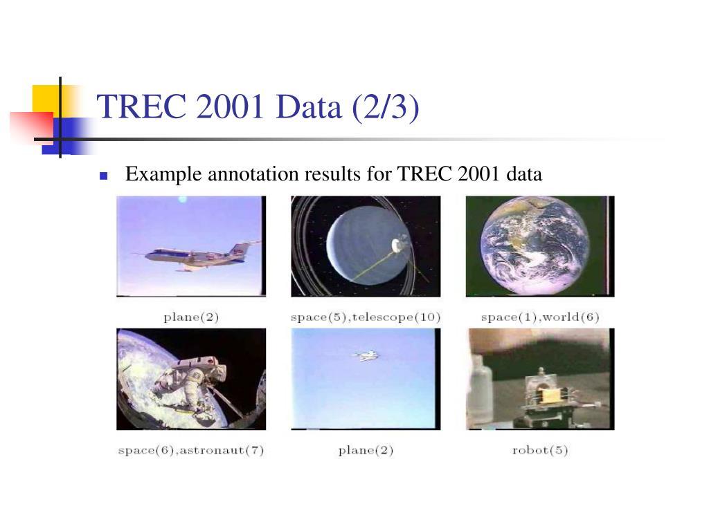 TREC 2001 Data (2/3)