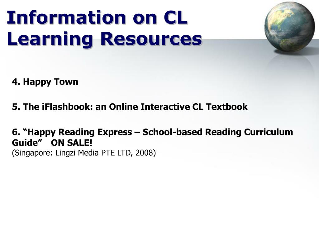 Information on CL Learning Resources