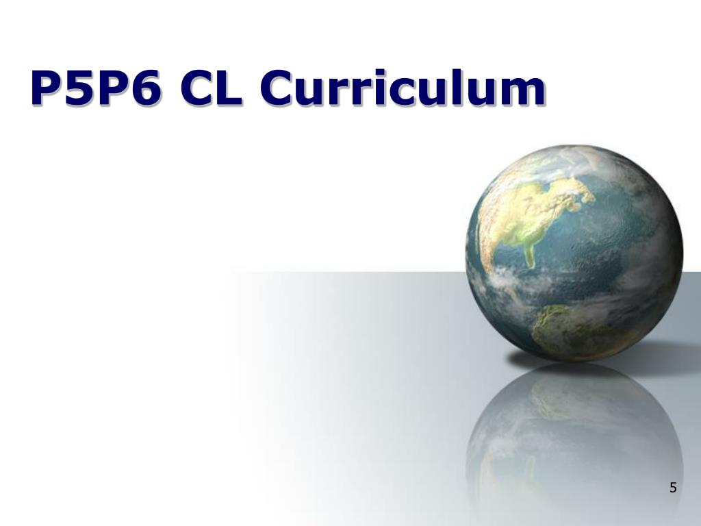 P5P6 CL Curriculum