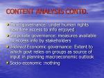 content analysis contd