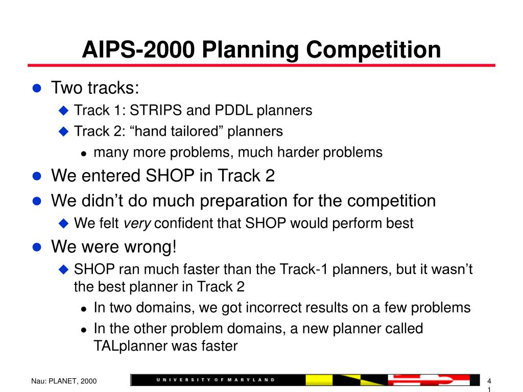 AIPS-2000 Planning Competition