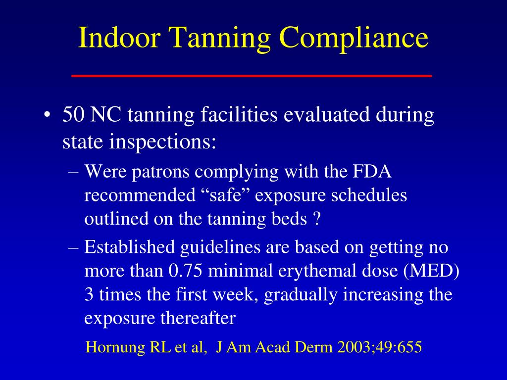 Indoor Tanning Compliance