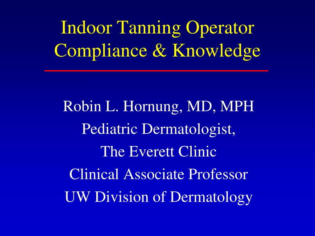 indoor tanning operator compliance knowledge