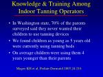 knowledge training among indoor tanning operators14