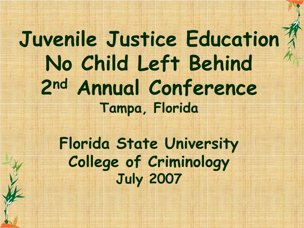 Juvenile Justice Education