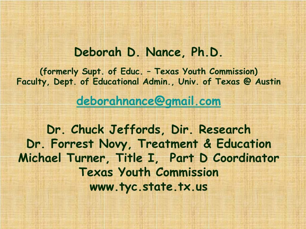 Deborah D. Nance, Ph.D.