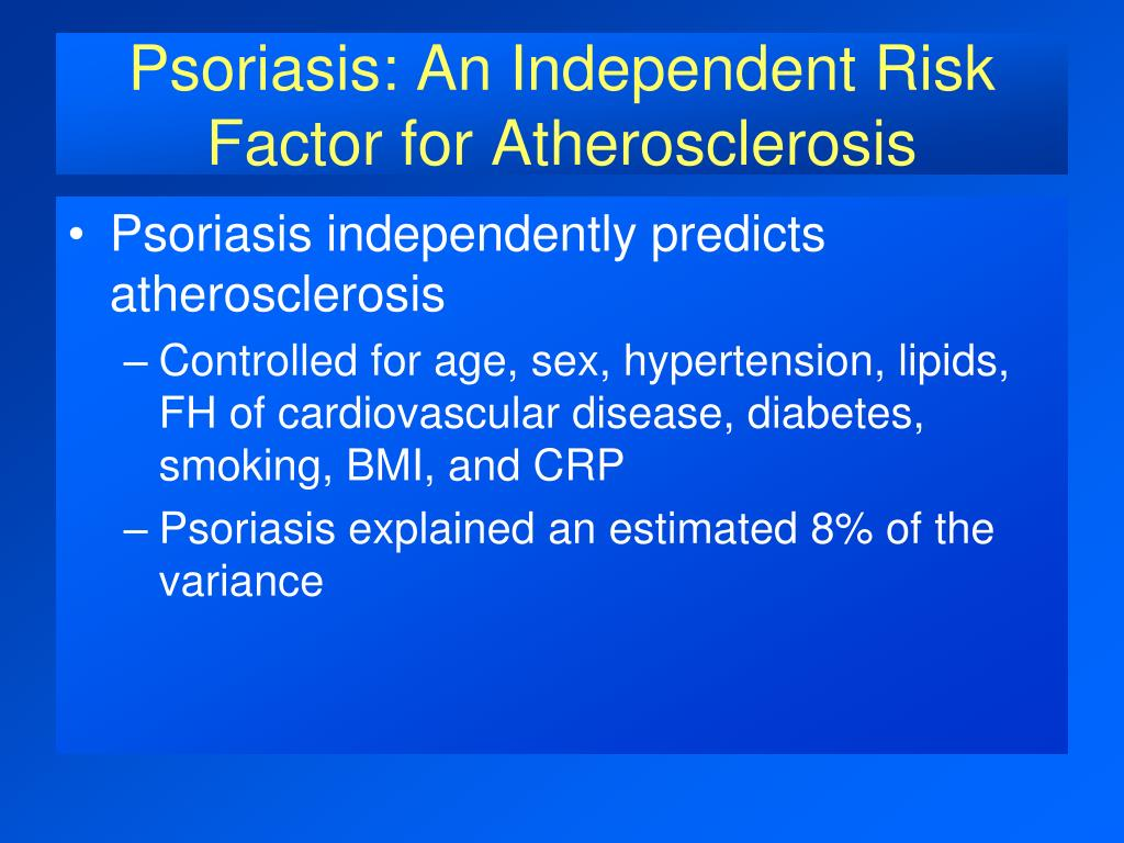 Psoriasis: An Independent Risk Factor for Atherosclerosis