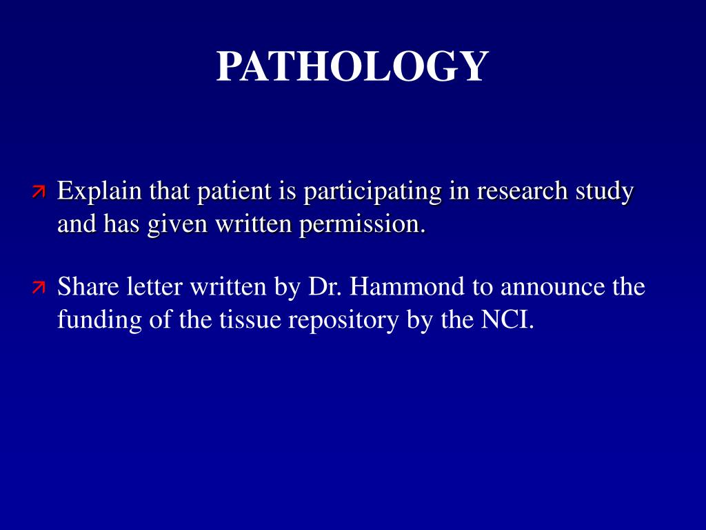 Share letter written by Dr. Hammond to announce the funding of the tissue repository by the NCI.