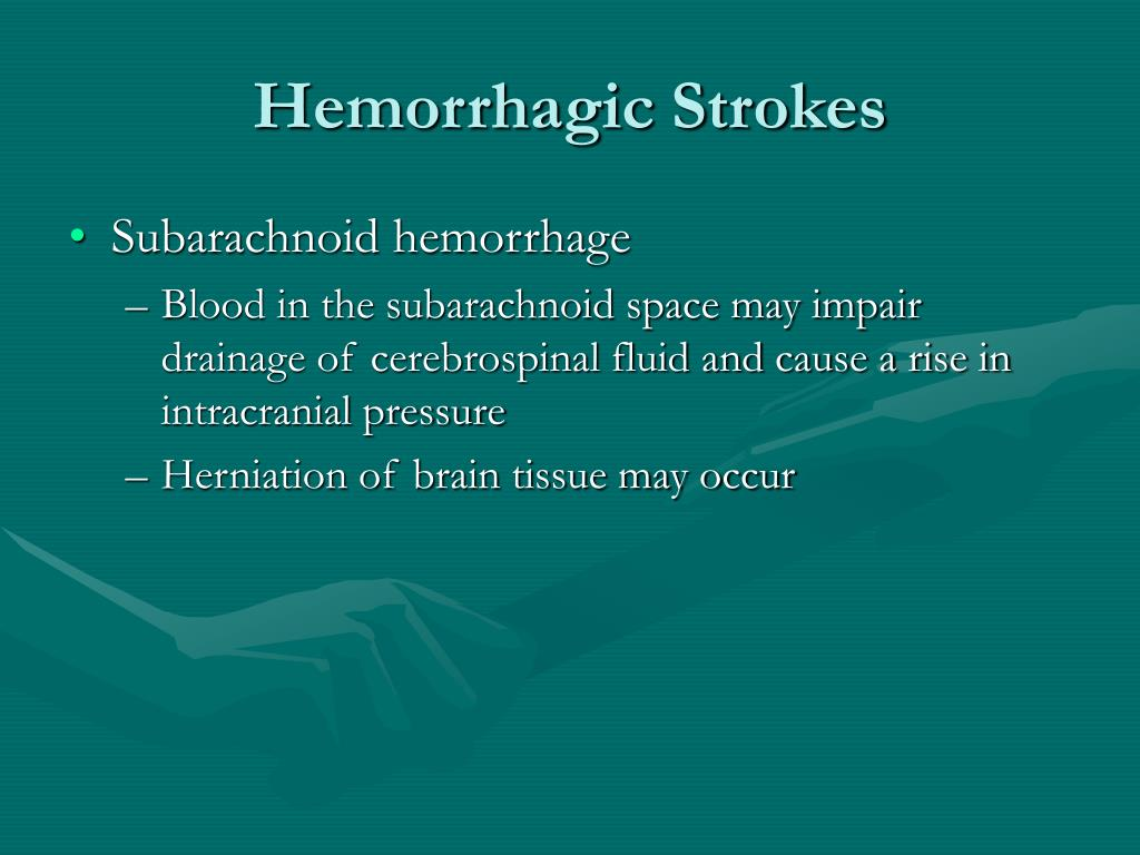 Hemorrhagic Strokes