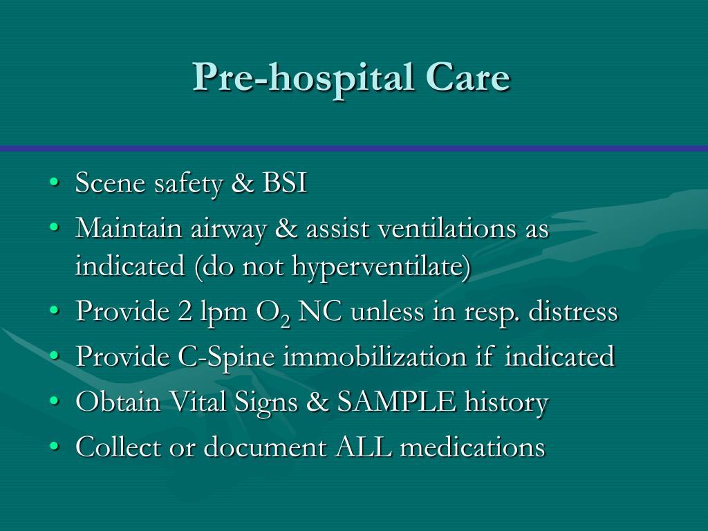Pre-hospital Care