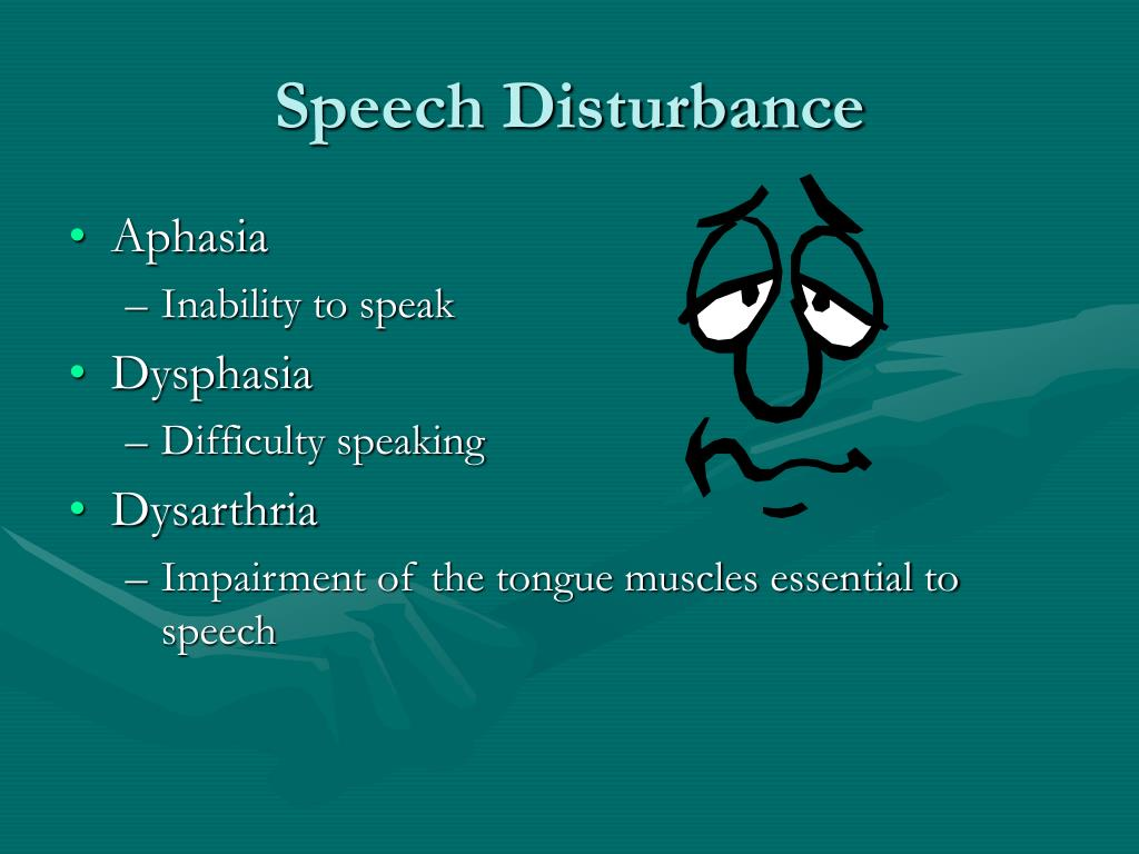 Speech Disturbance