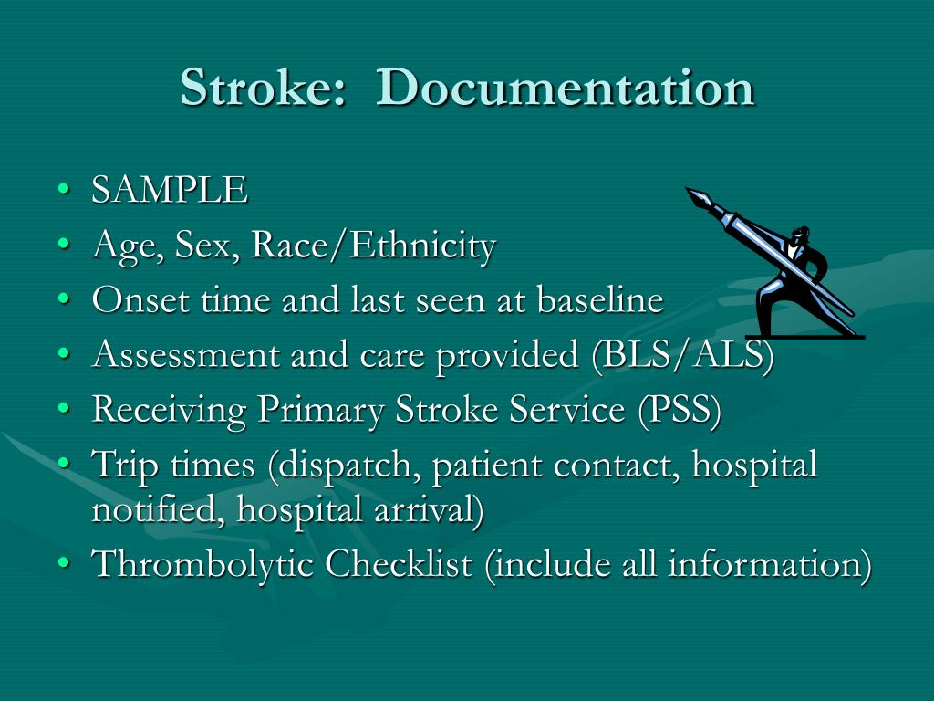 Stroke:  Documentation