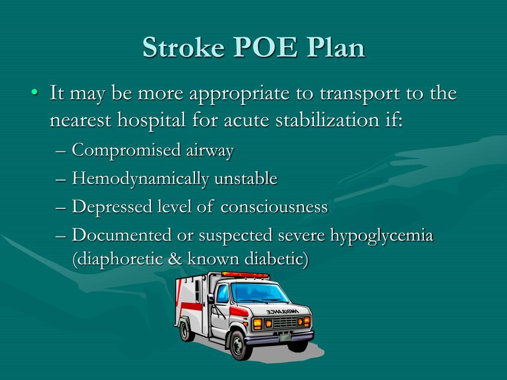 Stroke POE Plan