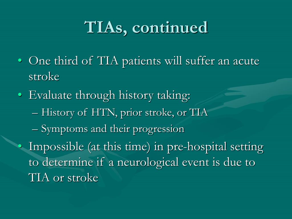 TIAs, continued