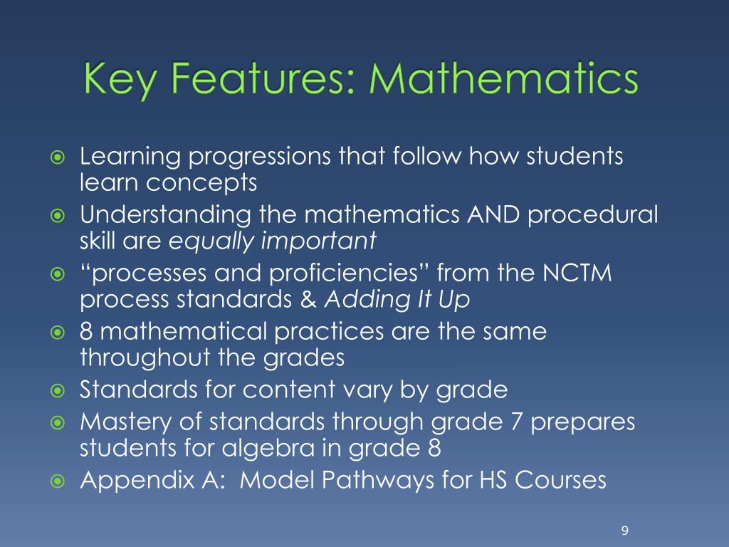 Key Features: Mathematics