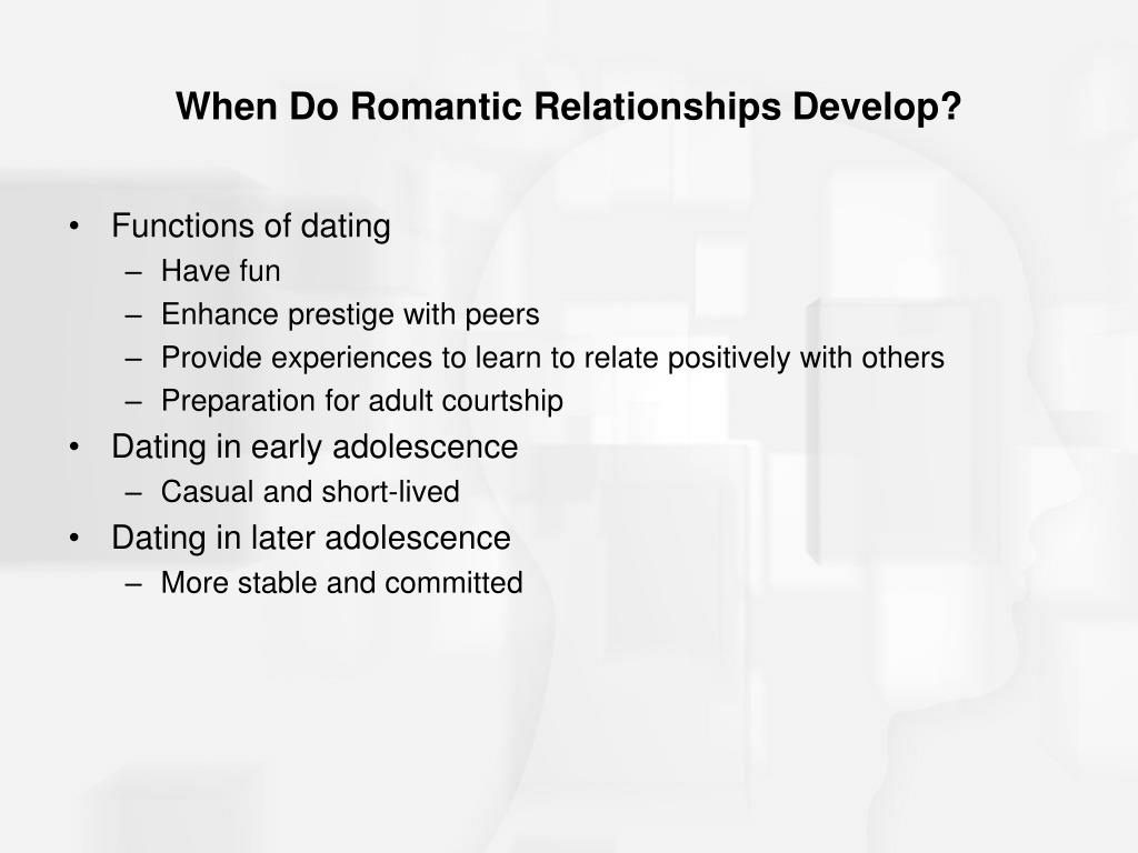 how to develop a romantic relationship