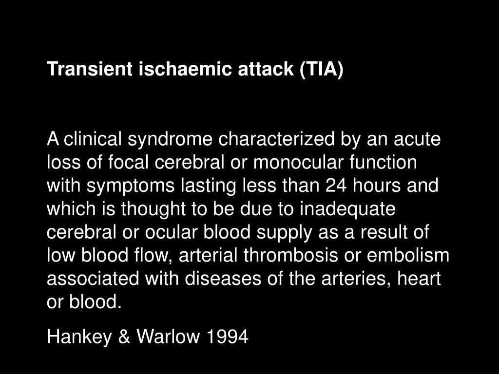 Transient ischaemic attack (TIA)