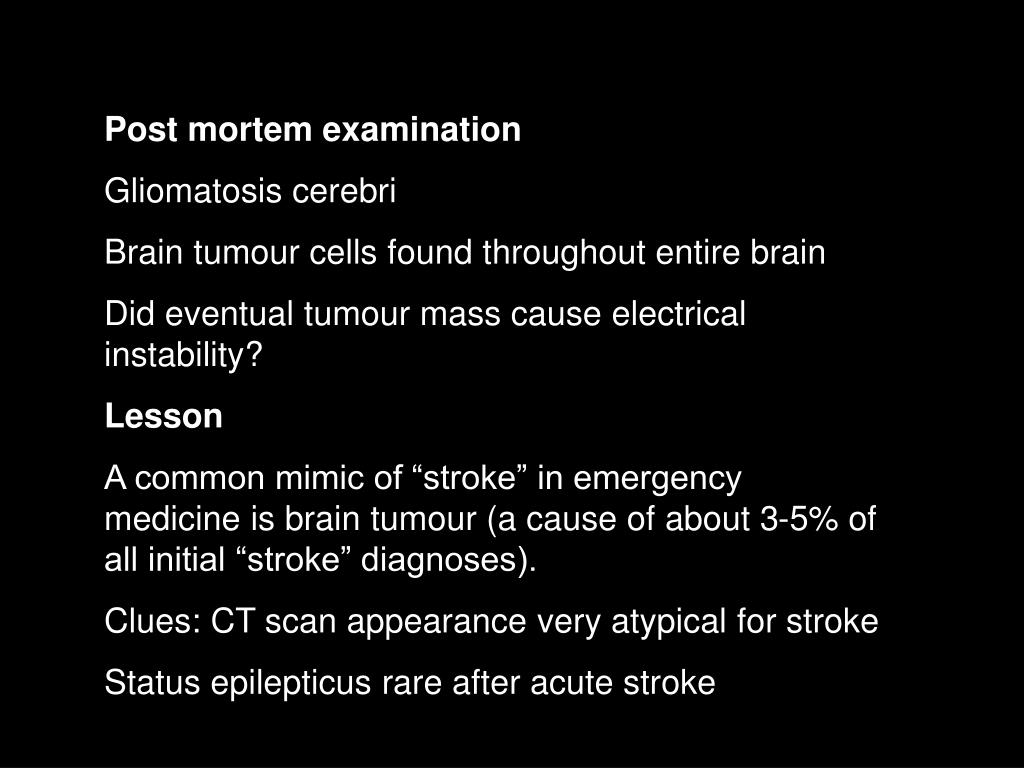 Post mortem examination