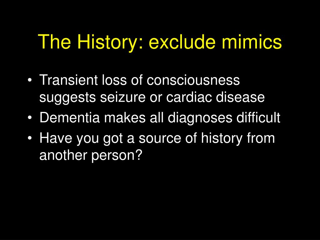 The History: exclude mimics
