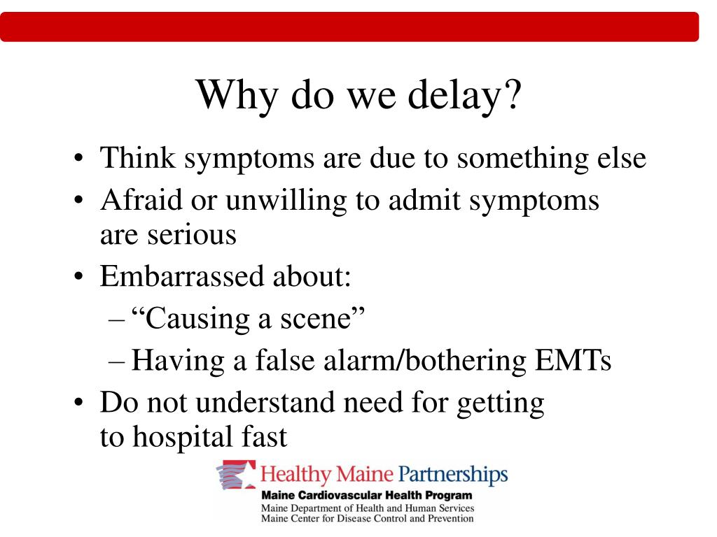 Why do we delay?