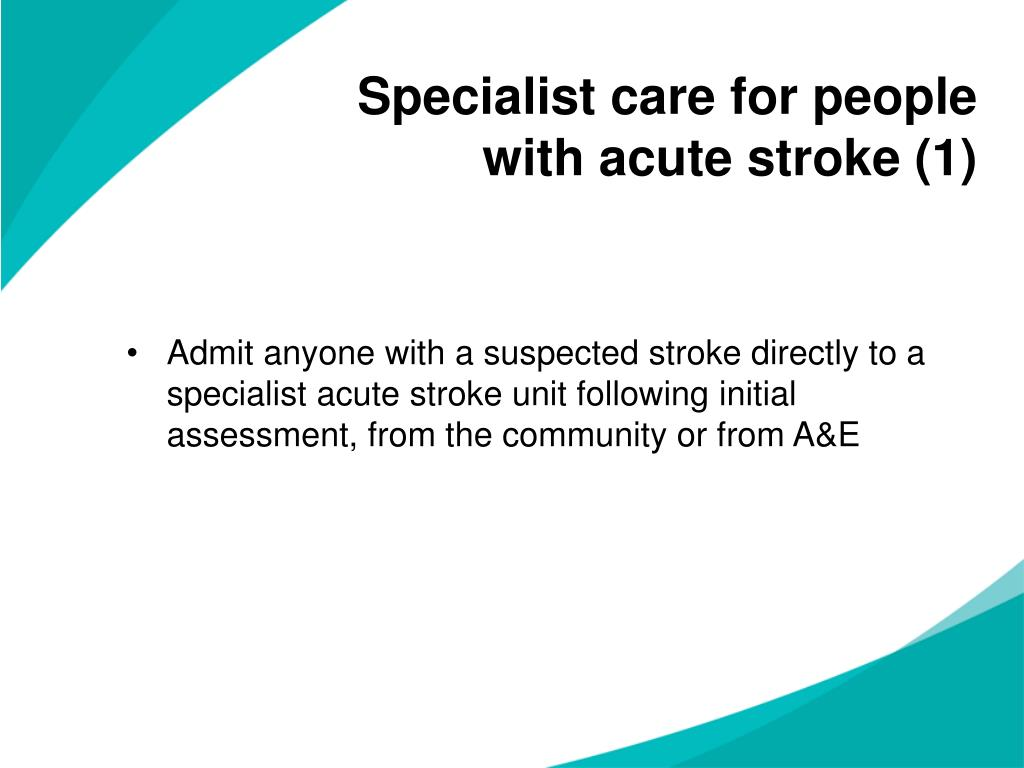 Specialist care for people