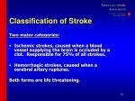 classification of stroke