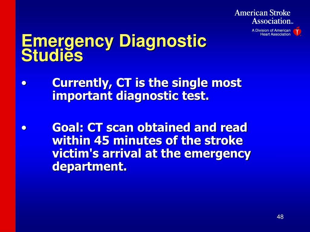 Emergency Diagnostic Studies