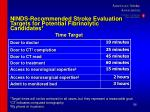ninds recommended stroke evaluation targets for potential fibrinolytic candidates