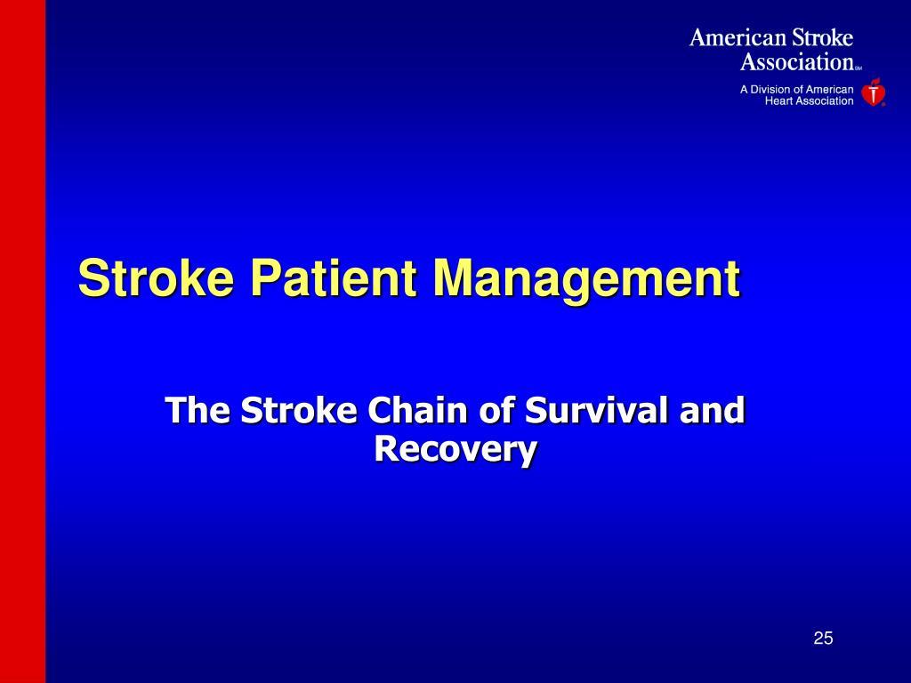 Stroke Patient Management