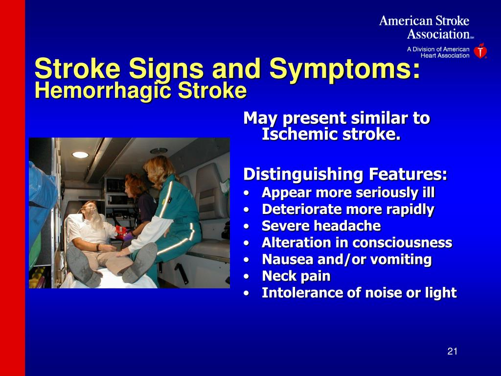 Stroke Signs and Symptoms:
