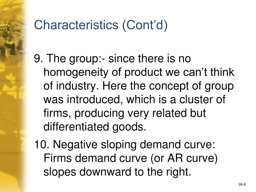 Characteristics (Cont'd)